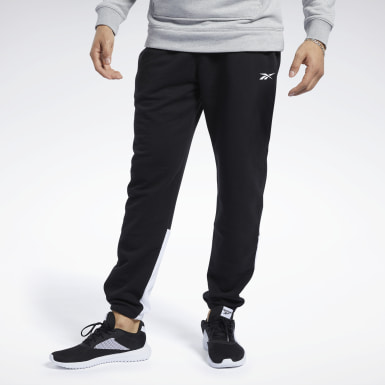Men Training Black Training Essentials Linear Logo Joggers