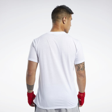 Men Fitness & Training White Combat Wordmark Tee