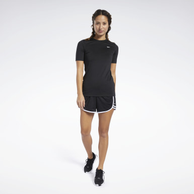 Women Cross Training Black Workout Ready Supremium Tee
