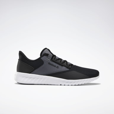 Men Running Black Reebok Sublite Legend Shoes