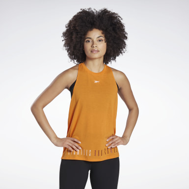 Kvinder Studio Orange LES MILLS® BODYCOMBAT® Supremium Tank Top