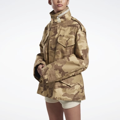 Women Fitness & Training Brown VB Military Jacket