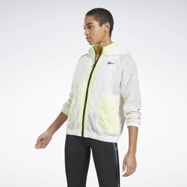 Frauen Fitness & Training MYT Woven Jacket Weiß