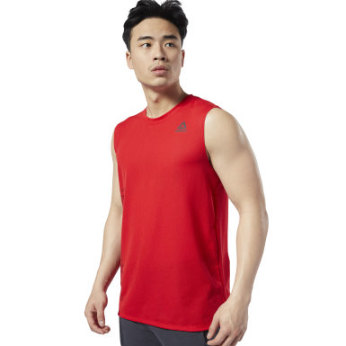 Men Studio Red LES MILLS® BODYPUMP® Sleeveless Tee