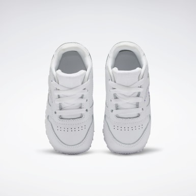 Girls Classics White Classic Leather Shoes - Toddler