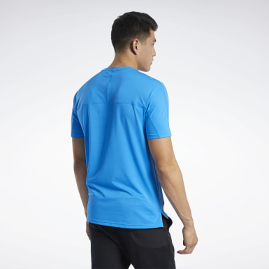 Men HIIT Blue ACTIVCHILL Graphic Move Tee