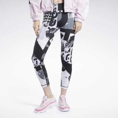 Dames Fitness & Training Zwart Meet You There Allover Print 7/8 Legging