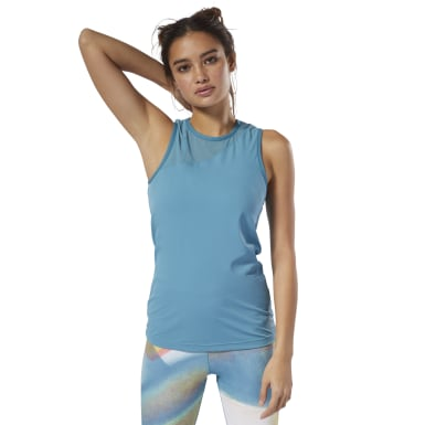 Women Studio Turquoise Cardio Tank Top