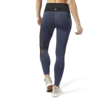 Dam Yoga Blå Studio Mesh Tights