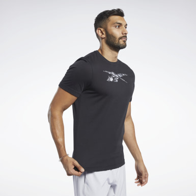 T-shirt Graphic Nero Uomo Fitness & Training