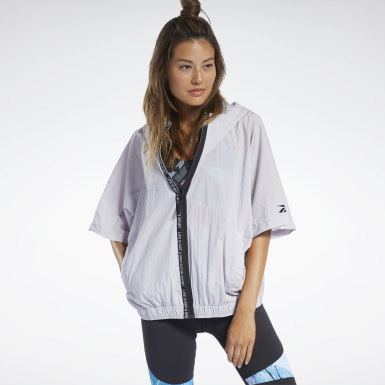 Frauen Fitness & Training Woven Short-Sleeve Jacket