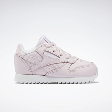 Kids Classics Pink Classic Leather Shoes