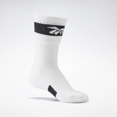 Women Casual White VB Folded Socks