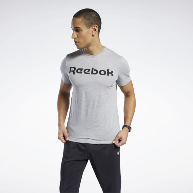Men Cross Training Grey Graphic Series Linear Logo Tee