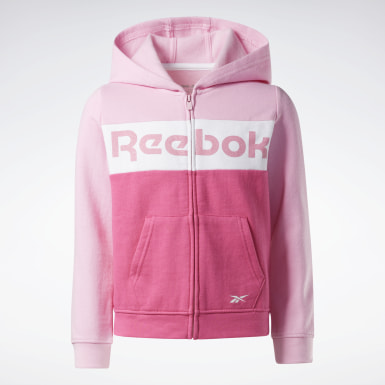 Girls Fitness & Training Pink Reebok Colorblock Hoodie
