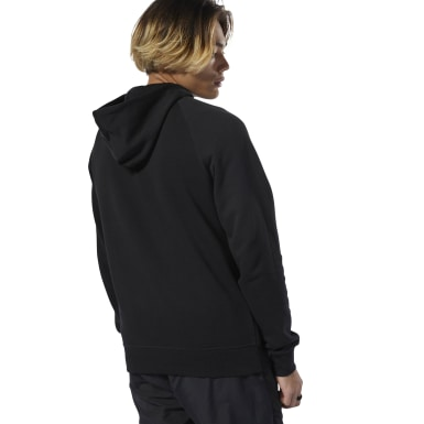 Men Classics Black Classics Graphic Half-Zip Hoodie