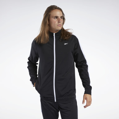 Men Training Black Training Essentials Linear Logo Track Jacket