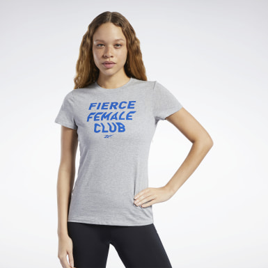 Women Training Grey Training Essentials Fierce Graphic Tee