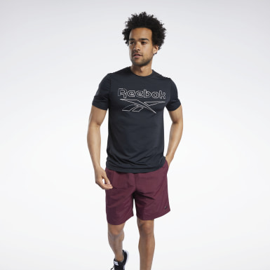 Men HIIT Black Workout Ready ACTIVCHILL Tee