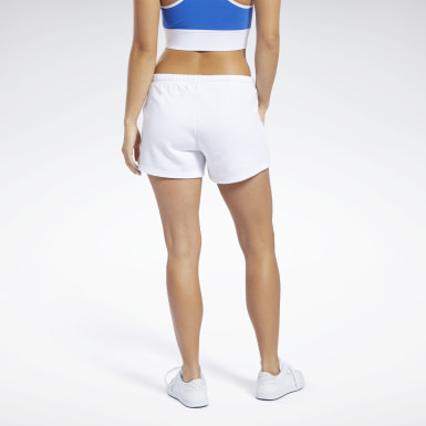 Dam Fitness & Träning Vit Training Essentials Linear Logo Shorts