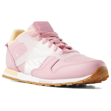 Kids Classics Pink Classic Leather Altered Shoes - Grade School