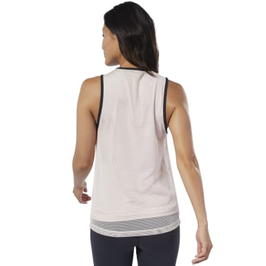 Women Dance Pink Cardio Performance Tank Top