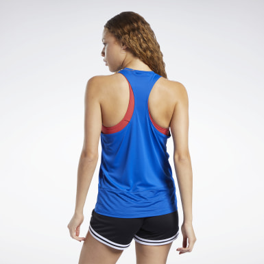 Frauen Dance Workout Ready Mesh Panel Tanktop