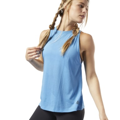 Dames Fitness & Training Blauw One Series Burnout Tanktop