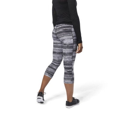 Women Training Black Lux 3/4 Legging - Stratified Stripes