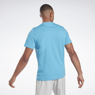Men Fitness & Training Turquoise Vector Fade Graphic T-Shirt