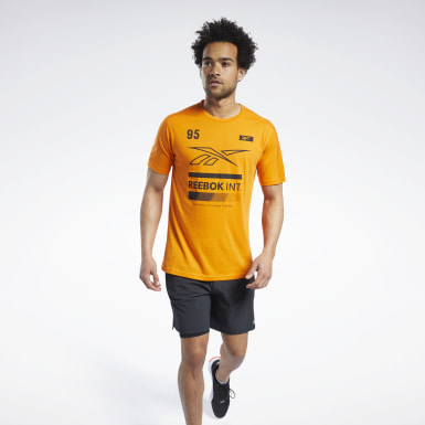 Camiseta Speedwick Graphic Move Laranja Homem Fitness & Training