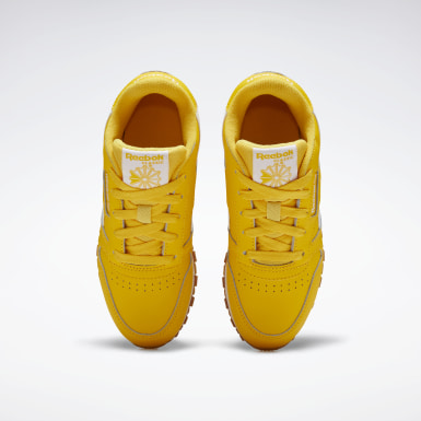 Boys Classics Yellow Classic Leather Shoes - Preschool