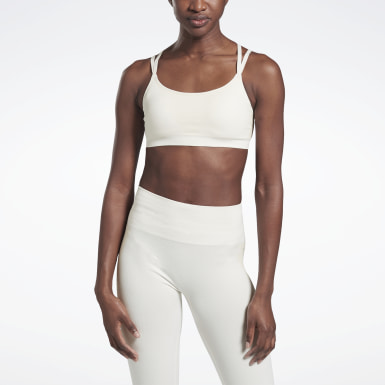 Women Fitness & Training White VB Seamless Bra