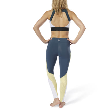 Women Studio Turquoise LES MILLS® Colorblock Tights