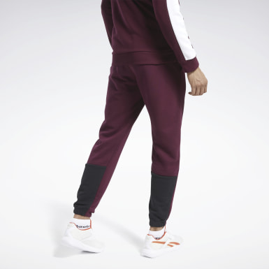 Herr Fitness & Träning Burgundy Training Essentials Linear Logo Joggers
