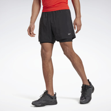 Men Montanhismo Black Running Essentials Two-in-One Shorts