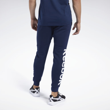 Joggers Training Essentials Linear Logo Blu Uomo Fitness & Training