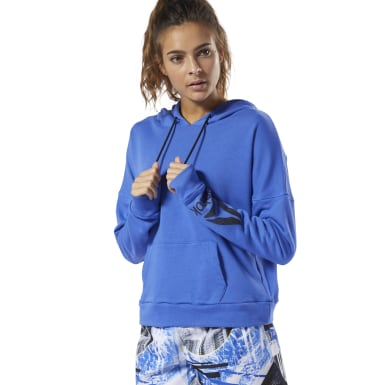Women Fitness & Training Blue WOR Delta Hoodie