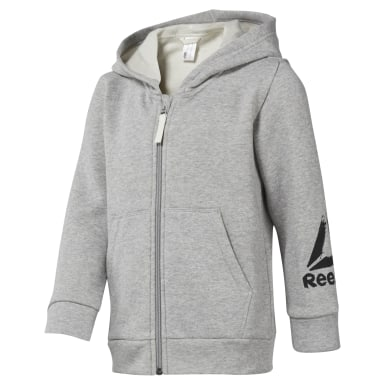 Boys Training Grey Boys Elements Fullzip Fleece Hoody