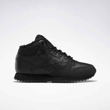 черный Кроссовки Reebok Classic Leather Mid Ripple