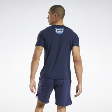 Men Training Blue CrossFit® ACTIVCHILL Games Tee