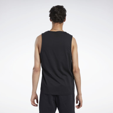 Men Classics Black Classics Linear Tank Top