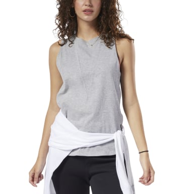 Women Training Grey Training Supply Tank Top
