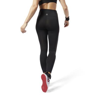 Women Yoga Black Studio Mesh Tights