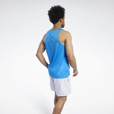 Heren Fitness & Training Blauw Mesh Tanktop