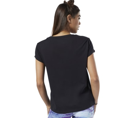 Women Training Black One Series Winter Easy Tee