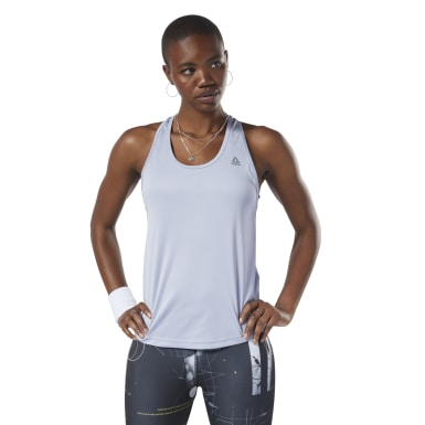 Musculosa de malla Performance Violeta Mujer Fitness & Training