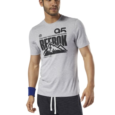 Men Training Grey Retro Winter Speedwick Tee