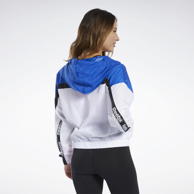 Dam Fitness & Träning Vit Training Essentials Linear Logo Jacket