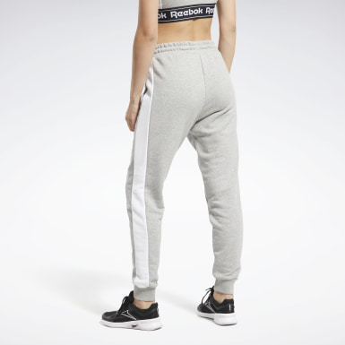 Women Fitness & Training Grey Training Essentials Linear Logo Pants